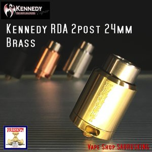 Kennedy RDA 2 Post 24mm Brass / ケネディー VAPE *正規品*|saurusking