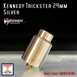 Kennedy RDA Trickster 24mm Silver / ケネディー トリックスター VAPE *正規品*|saurusking
