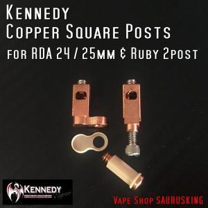 Kennedy 交換パーツ Copper Square Posts for 24/25 & Ruby 2-Post RDA / ケネディー スクエアポスト VAPE *正規品*|saurusking