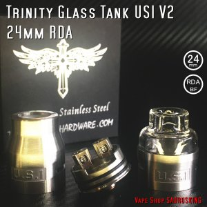 Trinity Glass Tank US.1 V2 24mm Color:Stainless / トリニティー US1 24mm ステンレス*正規品*RDA|saurusking
