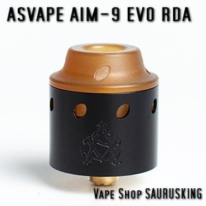 Asvape AIM-9 EVO RDA Color:Black / アスベイプ AIM-9 EVO 24mm ブラック*正規品* VAPE Atomizer|saurusking
