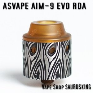 Asvape AIM-9 EVO RDA Color:Silver / アスベイプ AIM-9 EVO 24mm シルバー*正規品* VAPE Atomizer|saurusking