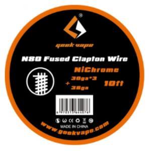 Geek Vape Wire Fused Clapton Ni80 10ft VAPE RBA / ギークベイプ ワイヤー クラプトン ニクロム|saurusking