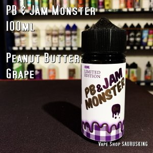 PB & Jam Monster [Grape] 100ml PB & J ジャムモンスター グレープ VAPEリキッド|saurusking