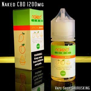 Naked CBD 1200mg Amazing Mango / 30ml Vape用リキッド|saurusking