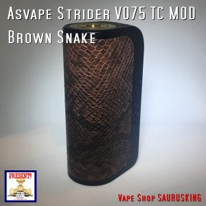 Asvape Strider VO75 Color:Brown Snake TC Box Mod / アスベイプ ストライダー ブラウンスネーク*正規品*VAPE BOX MOD|saurusking