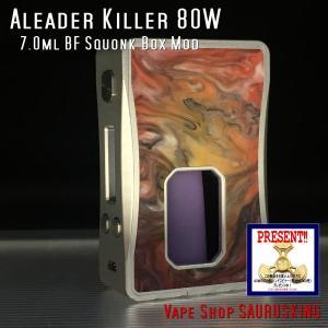 Aleader Killer 80W 7.0ml BF Squonk Box Mod Color:06 / アリーダー キラー ボトムフィーダー用スコンカー 温度管理 *正規品*VAPE|saurusking