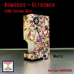 Asmodus + Ultroner LUNA Squonker Box Mod MOZAIC Edition White / アスモダス ルナ スコンカー モザイク ホワイト*正規品*VAPE BOX MOD|saurusking