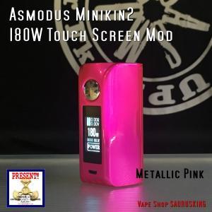 Asmodus Minikin V2 180W Touch Screen Mod / Metallic Pink アスモダス ミニキン2 メタリックピンク*正規品*VAPE BOX MOD|saurusking