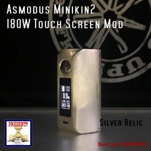 Asmodus Minikin V2 180W Touch Screen Mod / Silver Relic アスモダス ミニキン2 シルバーレリック*正規品*VAPE BOX MOD|saurusking