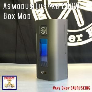 Asmodus Lustro 200W Box Mod color:Black / アスモダス ラストロ ブラック*正規品*VAPE BOX MOD|saurusking