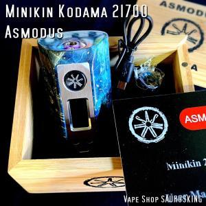 Asmodus Minikin Kodama 21700 180w Stabilized Wood Box Mod 35 / アスモダス ミニキン コダマ スタビライズドウッド*正規品*VAPE BOX MOD|saurusking