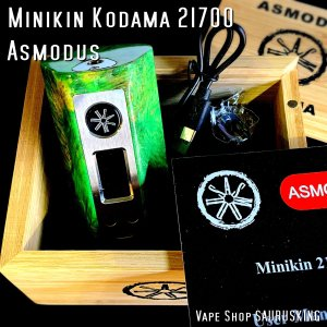 Asmodus Minikin Kodama 21700 180w Stabilized Wood Box Mod 38 / アスモダス ミニキン コダマ スタビライズドウッド*正規品*VAPE BOX MOD|saurusking
