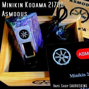 Asmodus Minikin Kodama 21700 180w Stabilized Wood Box Mod 39 / アスモダス ミニキン コダマ スタビライズドウッド*正規品*VAPE BOX MOD|saurusking