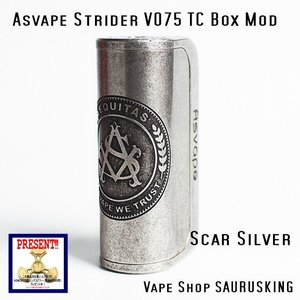 Asvape Strider VO75 Color:Scar TC Box Mod / アスベイプ ストライダー スカーシルバー*正規品*VAPE BOX MOD|saurusking