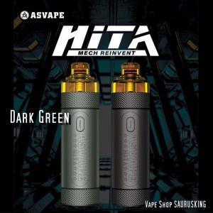 Asvape HITA Mech Reinvent Pod Kit [Dark Green] / アスベイプ ヒタ メック レインベント ポッド キット*正規品*VAPE BOX MOD saurusking