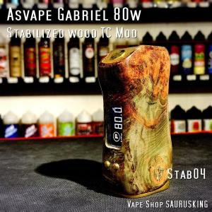 Asvape Gabriel 80w Color:04 Stabilized wood TC Box Mod / アスベイプ ガブリエル スタビライズドウッド*正規品*VAPE BOX MOD saurusking