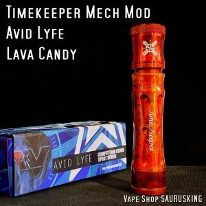 AV Avid Lyfe Timekeeper Mech Mod Lava Candy / アヴィッドライフ タイムキーパー モッド ラヴァキャンディ *USA正規品* VAPE|saurusking