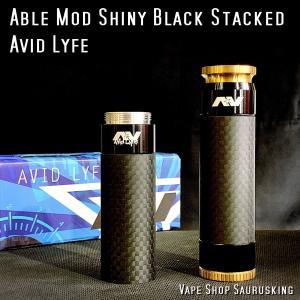 AV Avid Lyfe Able Mech Mod Shiny Black Stacked / アヴィッドライフ エーブル モッド シャイニーブラック スタック *USA正規品* VAPE|saurusking