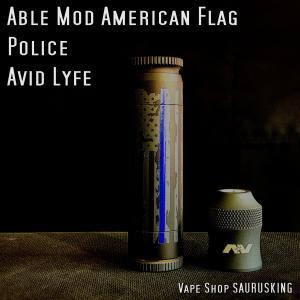 Avid Lyfe Able Mod Police American Flag / アヴィッドライフ エイブル モッド アメリカンフラッグ ポリス *USA正規品* VAPE|saurusking