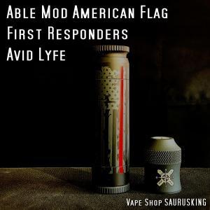 Avid Lyfe Able Mod First Responders American Flag / アヴィッドライフ エイブル モッド アメリカンフラッグ ファーストレスポンダーズ *USA正規品* VAPE|saurusking