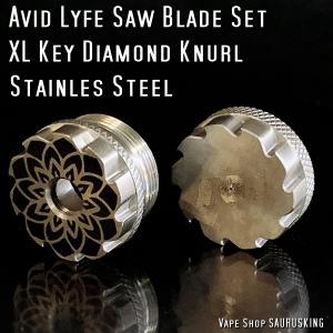 Avid Lyfe Saw Blade Set XL Key Diamond Knurl Stainless / アヴィッドライフ ソーブレード ダイアモンド ローレット *USA正規品* VAPE|saurusking