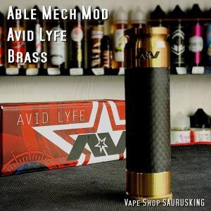 AV Avid Lyfe Able Mech Mod [Brass] / アヴィッドライフ エーブル メック モッド*USA正規品* VAPE|saurusking