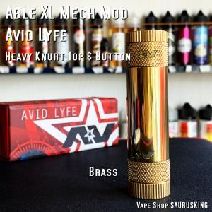 AV Avid Lyfe Able XL Mech Mod [Brass] / アヴィッドライフ エーブル メック モッド *USA正規品* VAPE saurusking
