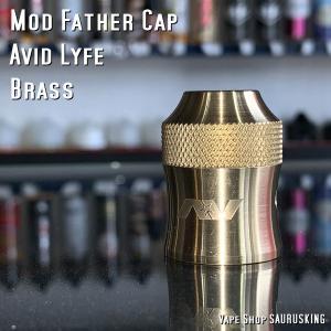AV Avid Lyfe Mod Father Cap [Brass] / アヴィッドライフ モッドファーザー RDA キャップ*USA正規品* VAPE|saurusking