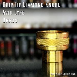 AV Avid Lyfe Drip Tip Diamond Knurl [Brass] / アヴィッドライフ ドリップチップ ダイアモンド ナール*USA正規品* VAPE|saurusking