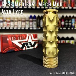 Avid Lyfe Gyre Medieval Mech Mod [Brass] / アヴィッドライフ ジャイル メディーバル *USA正規品* VAPE saurusking