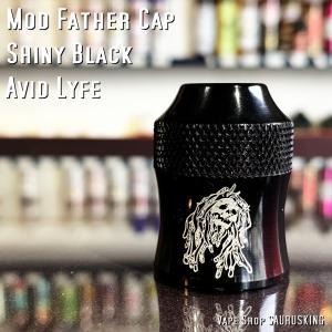 Avid Lyfe Mod Father Cap [Shiny Black] / アヴィッドライフ モッドファーザー RDA キャップ*USA正規品* VAPE saurusking