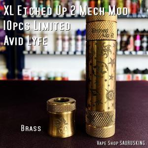 Avid Lyfe XL Etched Up 2 Mech Mod [Brass] / アヴィッドライフ エーブル エッチドアップ メック モッド *USA正規品* VAPE|saurusking