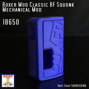Boxer Mod Classic BF Squonk Mechanical Mod by Ginger Vaper  / Blue ボクサー クラシック スコンカー メカニカルモッド / ブルー*正規品*VAPE BOX MOD|saurusking
