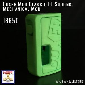 Boxer Mod Classic BF Squonk Mechanical Mod by Ginger Vaper  / Green ボクサー クラシック スコンカー メカニカルモッド / グリーン*正規品*VAPE BOX MOD|saurusking