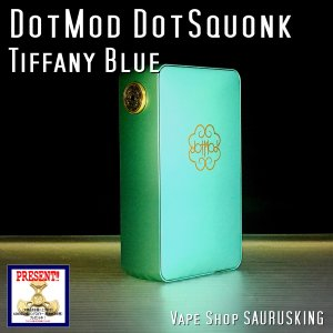 DotMod DotSquonk Box Mod Color:Tiffany Blue / ドットモッド メカニカル スコンカーモッド ティファニーブルー VAPE*正規品*|saurusking