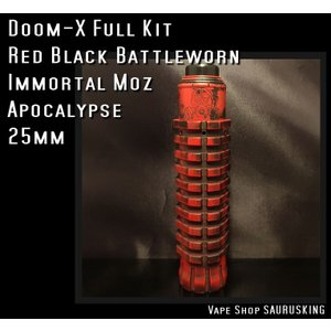 Doom X Full kit by Immortal Moz color:Red Black / イモータルモッズ ドームX *正規品* VAPE Mod|saurusking
