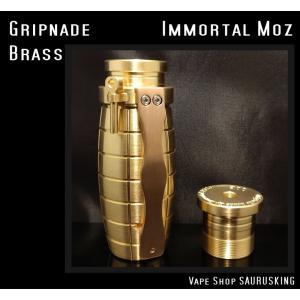 Gripnade by Immortal Modz color:Brass / イモータルモッズ グリップネード *正規品* VAPE Mod saurusking