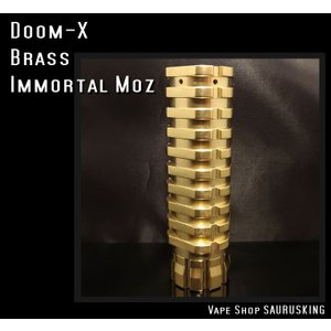 Doom X by Immortal Modz color:Brass / イモータルモッズ ドームX *正規品* VAPE Mod saurusking
