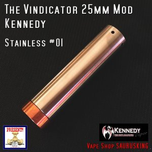 Kennedy The Vindicator 25mm Mod Stainless #01/ ケネディ*正規品*VAPE Mechanical Tube MOD|saurusking