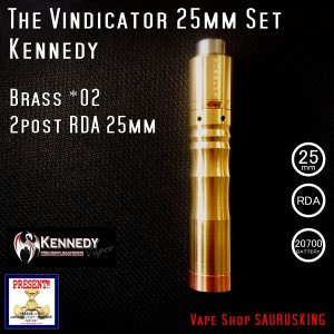 Kennedy The Vindicator 25mm Mod RDA Set Brass #02/ ケネディ*正規品*VAPE Mechanical Tube MOD|saurusking