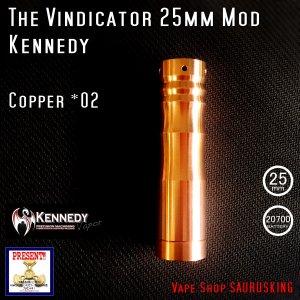 Kennedy The Vindicator 25mm Mod Copper #02/ ケネディ*正規品*VAPE Mechanical Tube MOD|saurusking