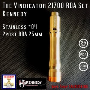 Kennedy The Vindicator 25mm Mod RDA Set Stainless #04/ ケネディ*正規品*VAPE Mechanical Tube MOD|saurusking