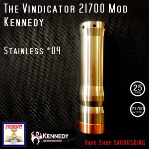 Kennedy The Vindicator 25mm Mod Stainless #04/ ケネディ*正規品*VAPE Mechanical Tube MOD|saurusking