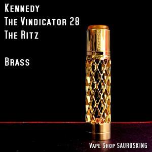 Kennedy The Vindicator 28 Setup The Ritz <Brass>*正規品*VAPE ケネディー ビンディケーター|saurusking