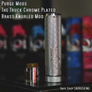 Purge Mods The Truck Chrome Plated Brass Knurled Mod + Cap / パージ トラック*USA正規品*VAPE saurusking