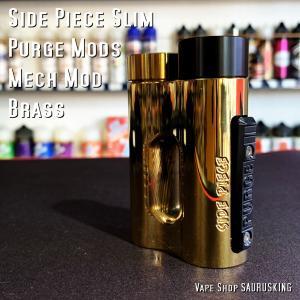 Purge Mods Side Piece Slim Mech Box Mod [Brass] / パージモッズ サイドピーススリム *USA正規品* VAPE saurusking