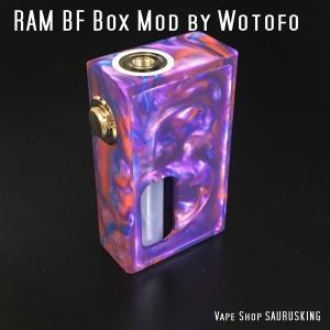 RAM BF Box Mod by Wotofo 7ml Bottle Color:01 / ウォトフォ ラム ボックス メカニカルスコンカー パープル系*正規品*VAPE Mod|saurusking