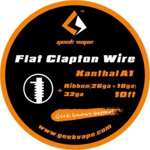 Geek Vape Wire Flat Clapton Kanthal A1 10ft VAPE RBA / ギークベイプ ワイヤー フラットクラプトン カンタル|saurusking