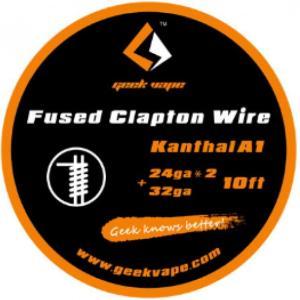 Geek Vape Wire Fused Clapton Kanthal A1 10ft VAPE RBA / ギークベイプ ワイヤー クラプトン カンタル|saurusking